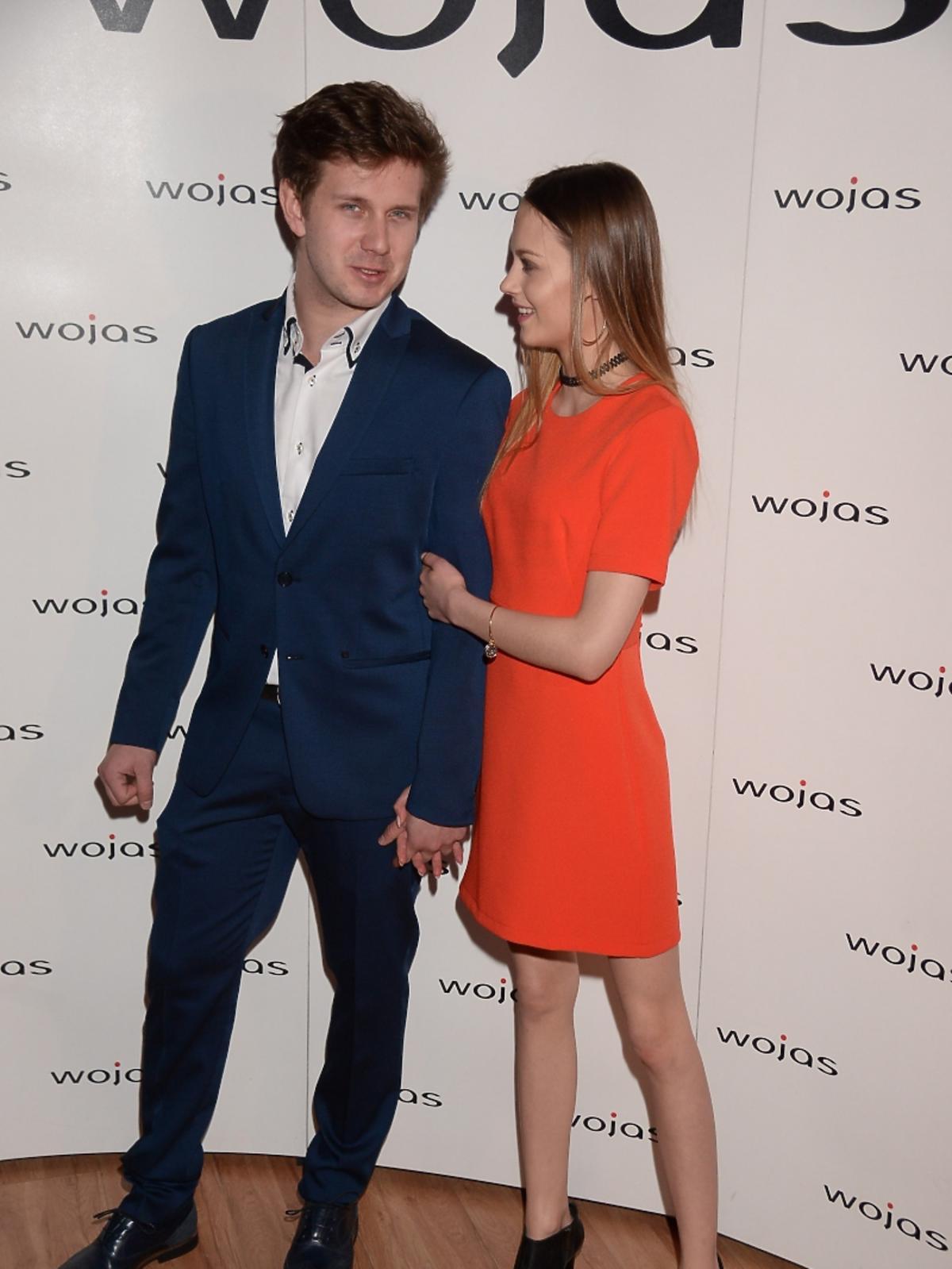 Antek Królikowski i Kasia Sawczuk na prezentacji kolekcji Wojas