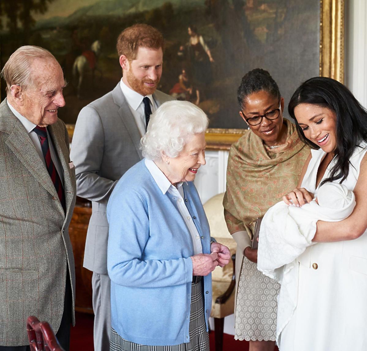Archie z rodziną królewską