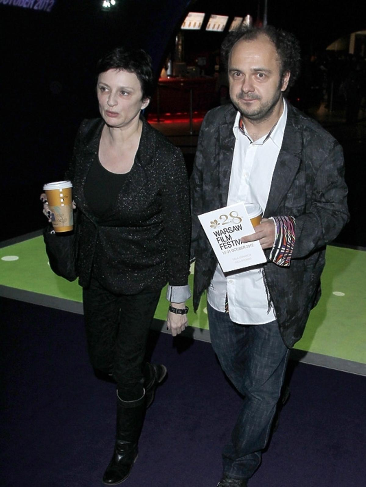 Arkadiusz Jakubik i Agnieszka Matysiak na otwarciu Warszawskiego Festiwalu Filmowego