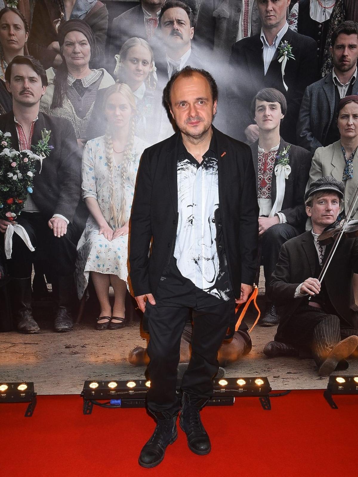 Arkadiusz Jakubik na premierze filmu
