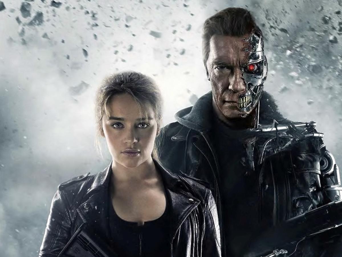 Arnold Schwarzenegger i Emilia Clarke w filmie Terminator: Genisys