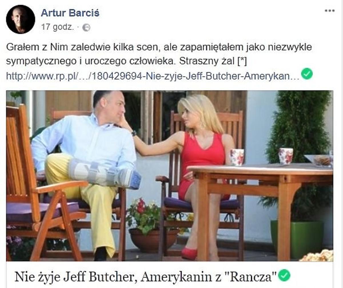 Artur Barciś żegna Jeffa Butchera