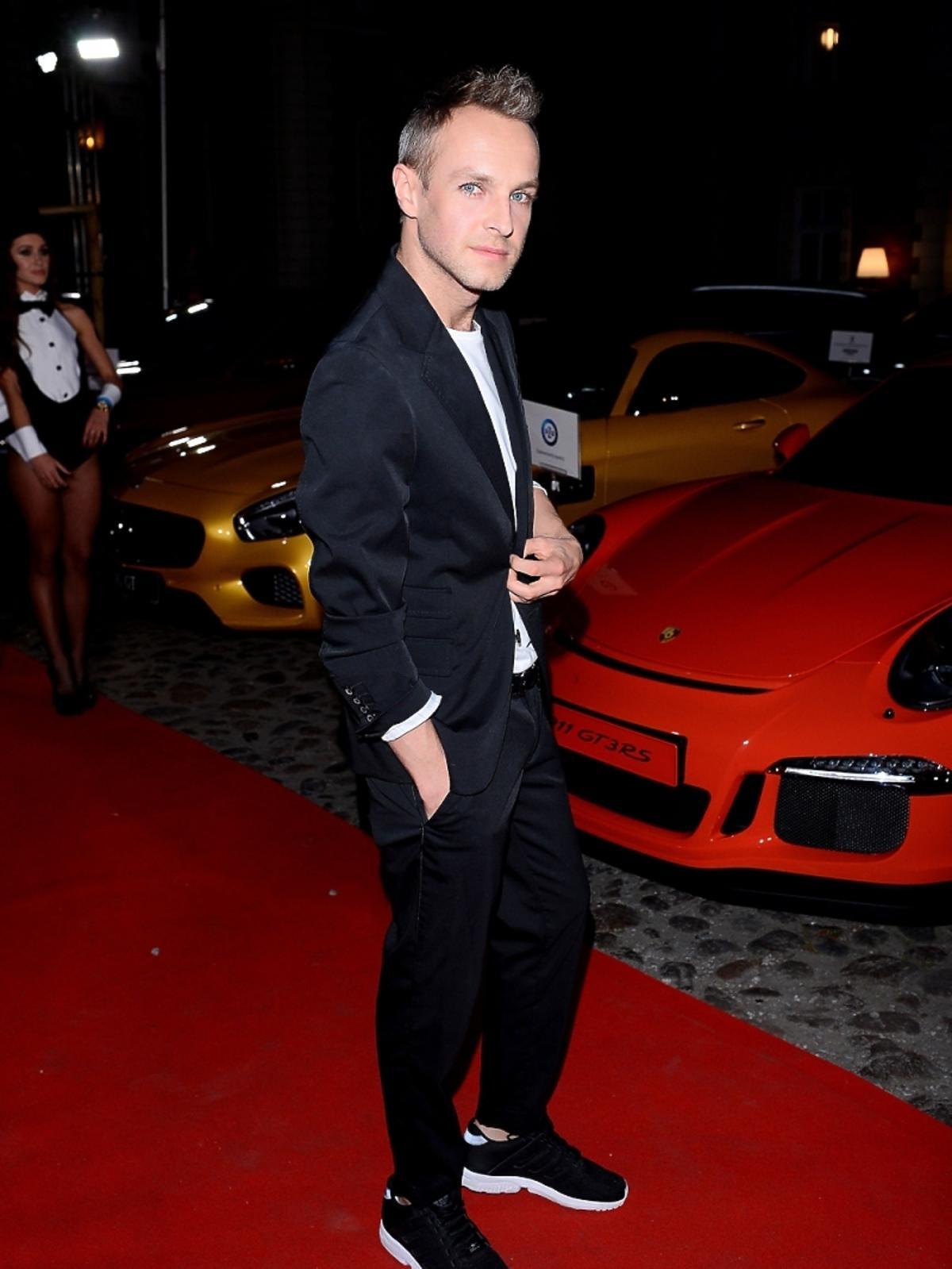 Artur Chamski na imprezie Samochód Roku Playboya