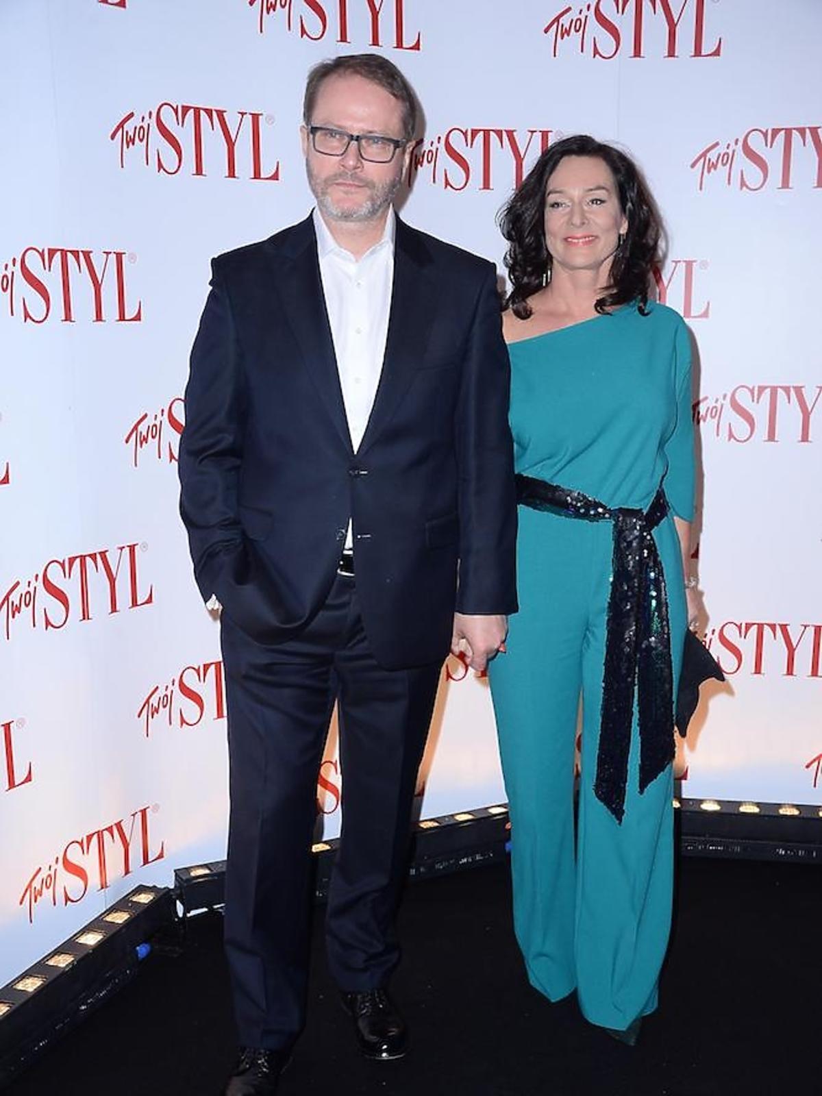 Artur Żmijewski z żoną na Doskonałości roku 2017