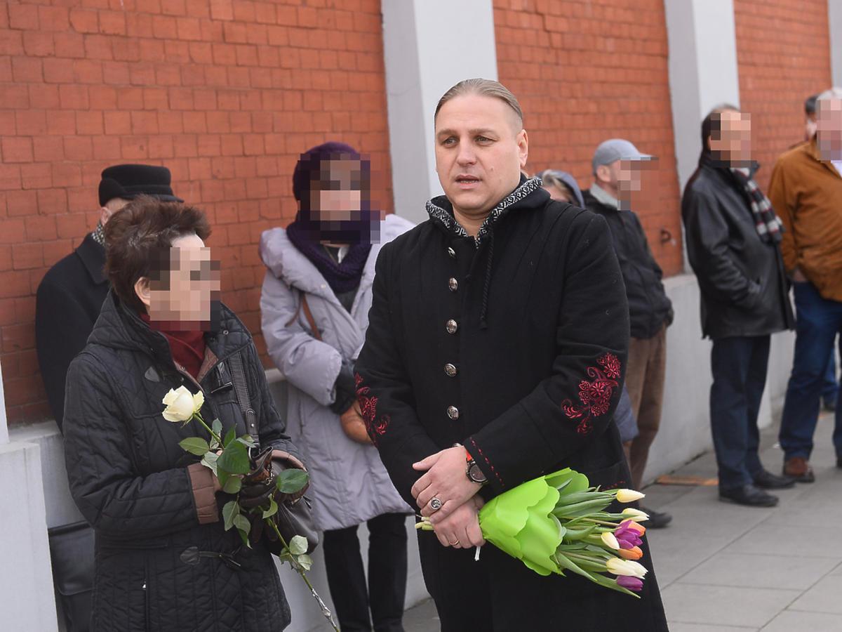 Artyści na pogrzebie Wojciecha Młynarskiego