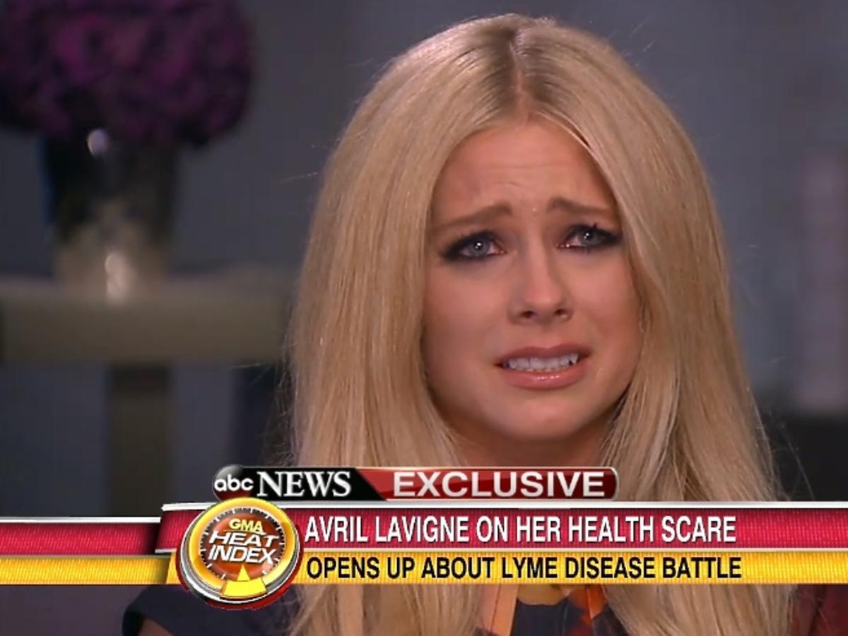 Avril Lavigne o chorobie