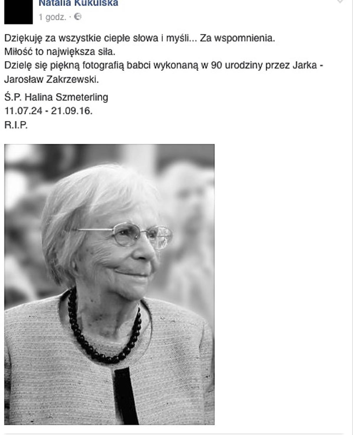 babcia Natalii Kukulskiej