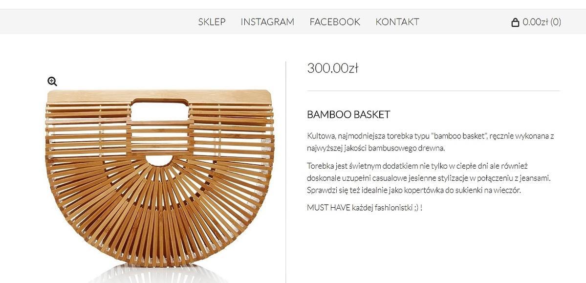 Bambusowy koszyk, Gypsy Warsaw, 300 zł