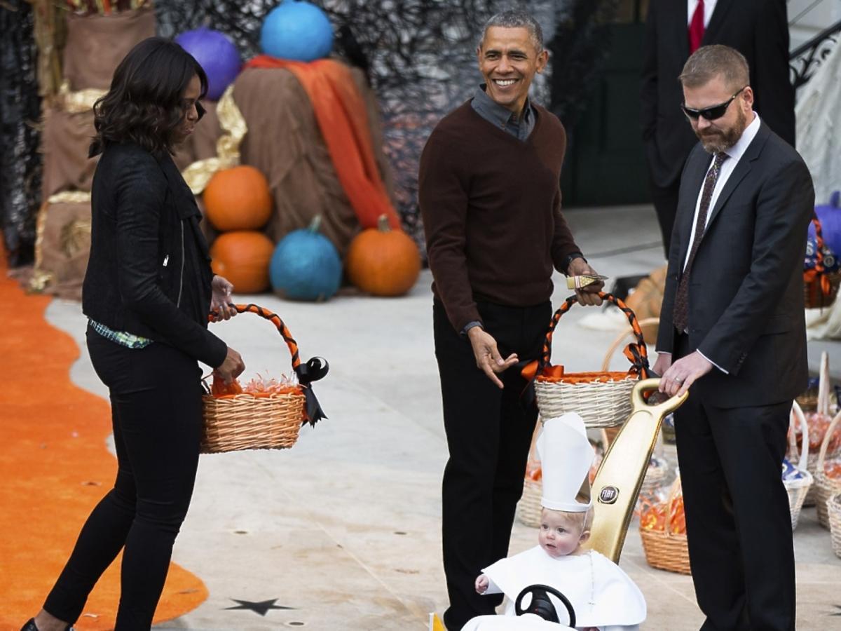 Barack i Michelle Obama na imprezie z okazji Halloween w Białym Domu