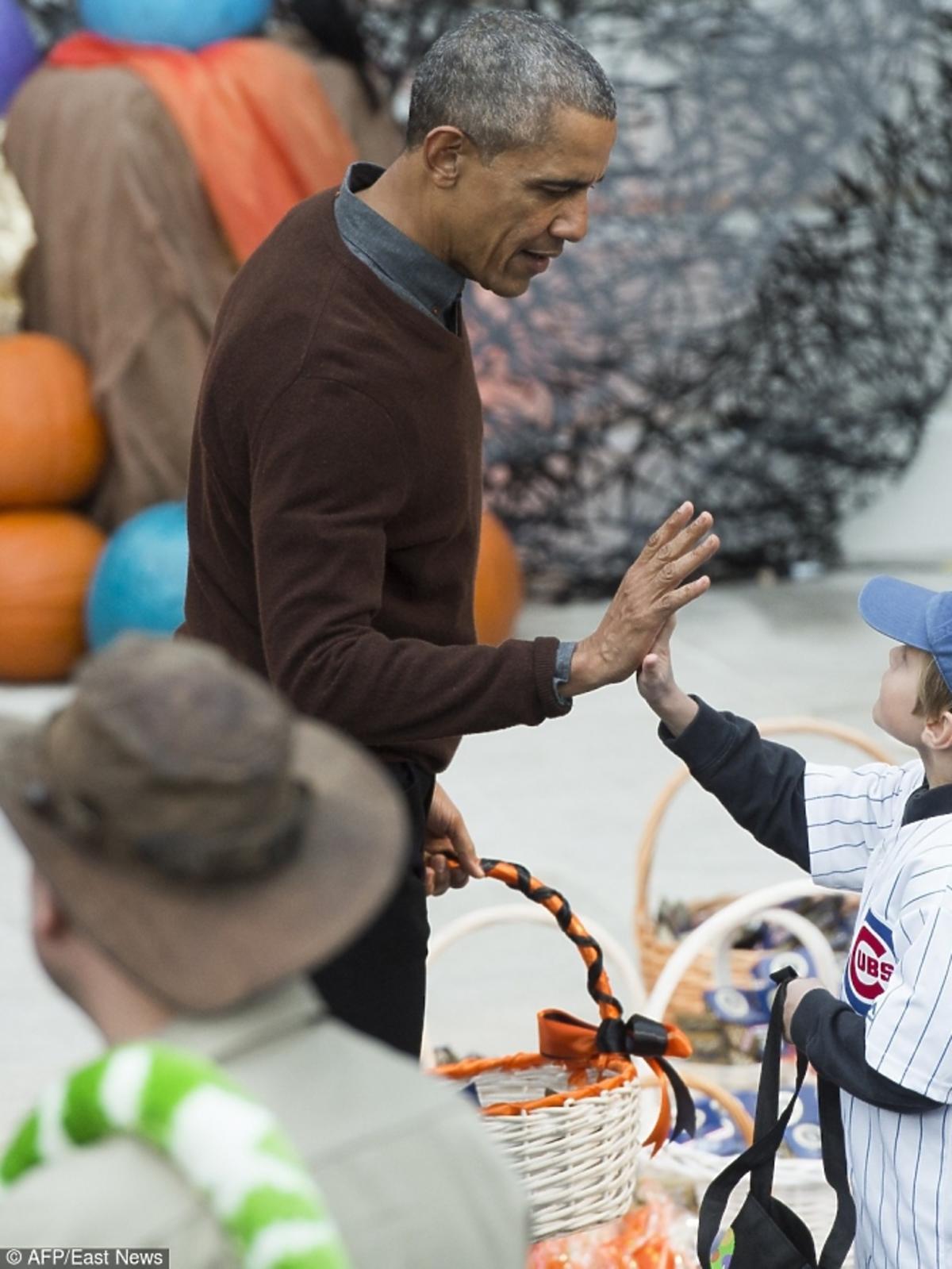 Barack Obama na imprezie z okazji Halloween w Białym Domu