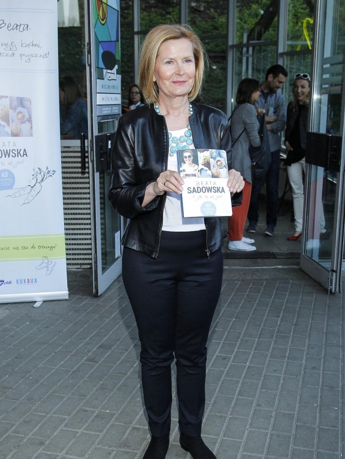 Barbara Bursztynowicz na premierze książki Beaty Sadowskiej