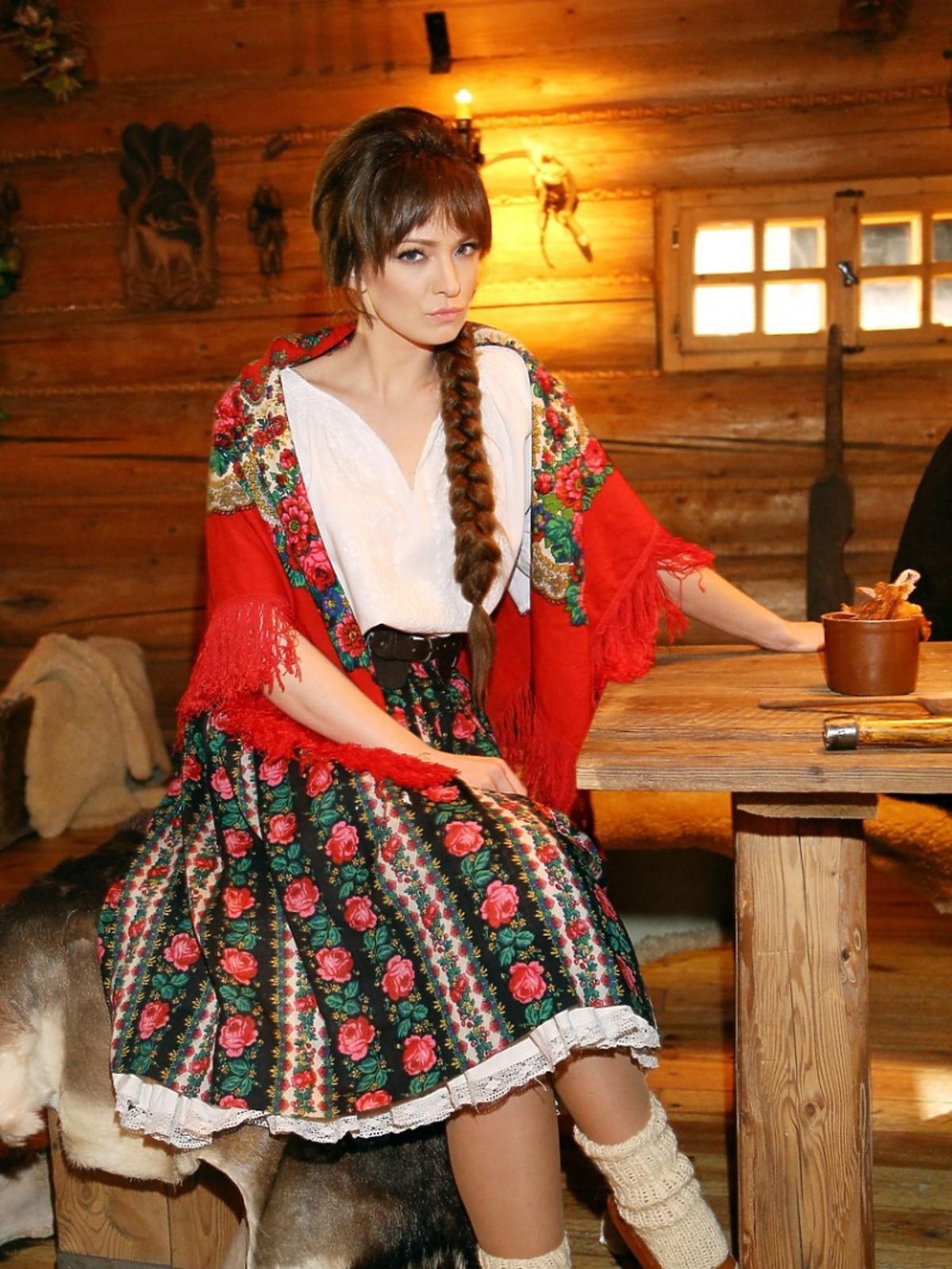 Barbara Kurdej-Szatan na planie spotu Kocham Cię, Polsko