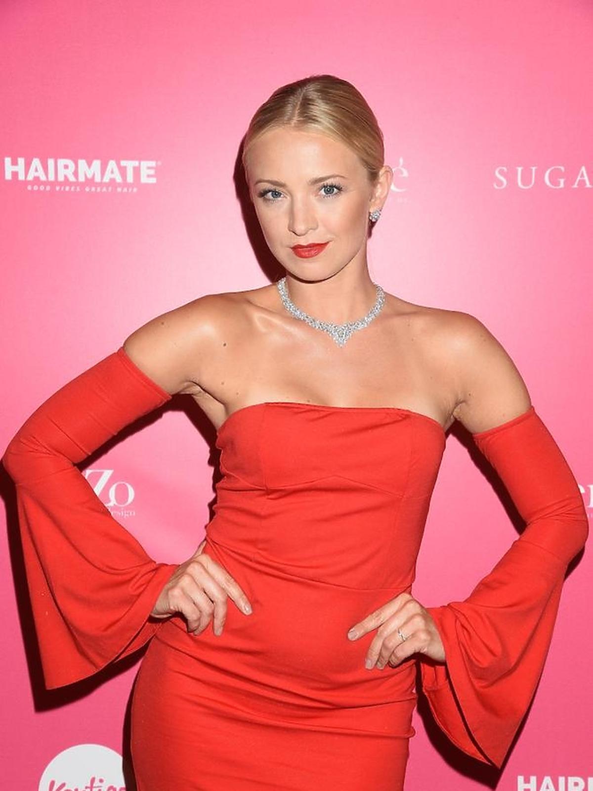 Barbara Kurdej-Szatan w czerwonej sukience Sugarfree