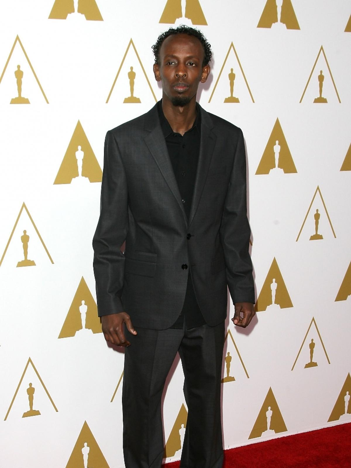 Barkhad Abdi podczas konferencji prasowej nominacji do Oscarów 2014
