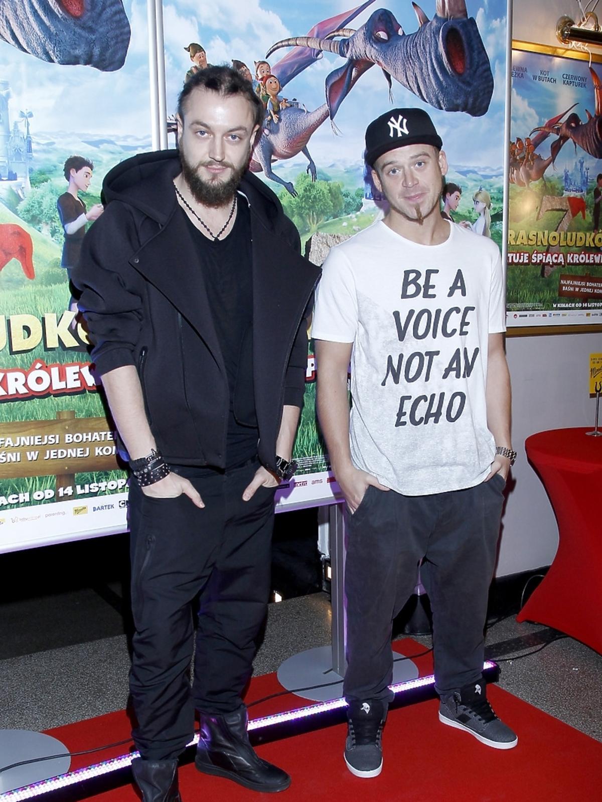 Baron i Tomson na premierze filmu