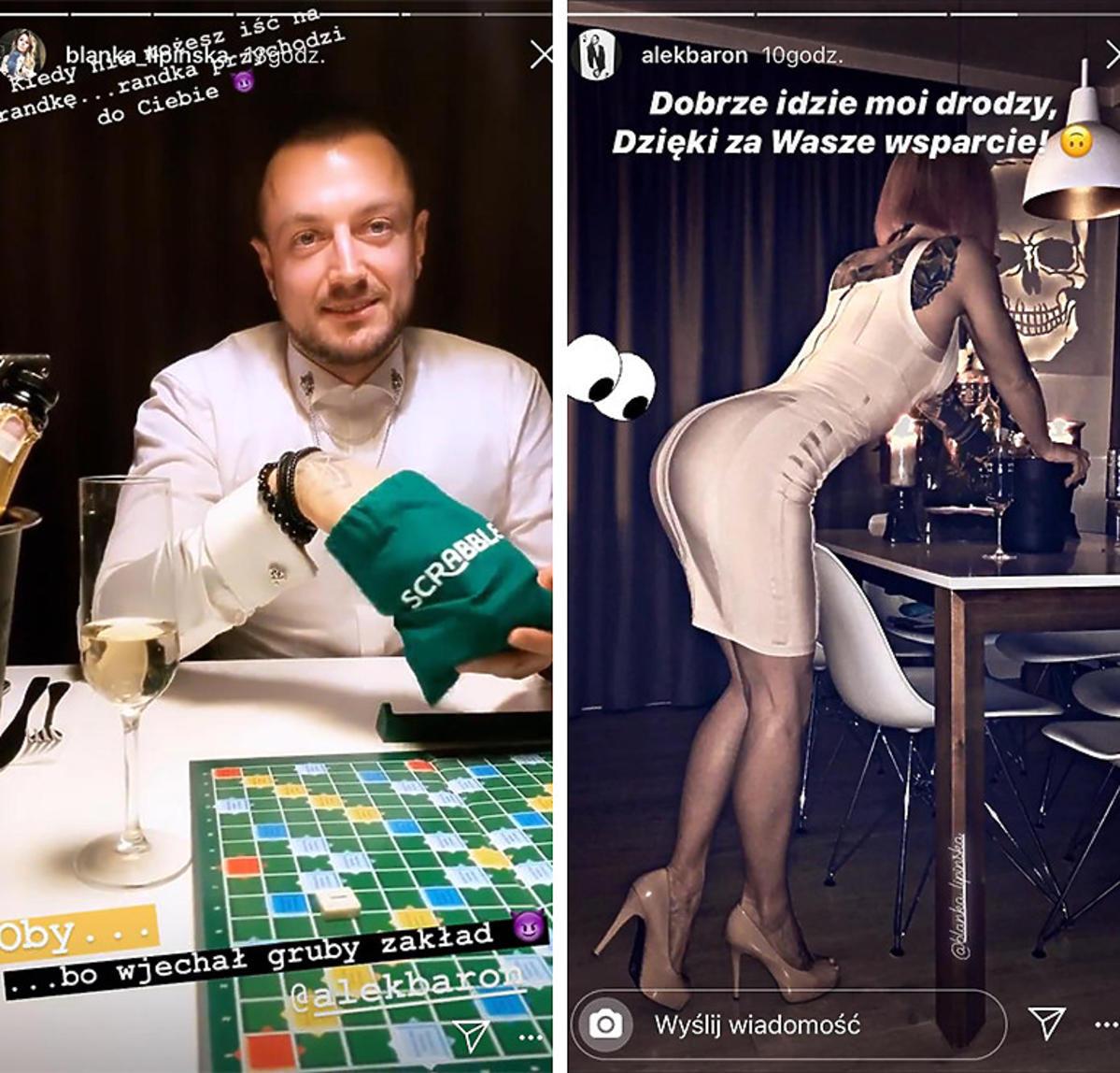 Baron pokazał zdjęcia z randki z Blanką Lipińską