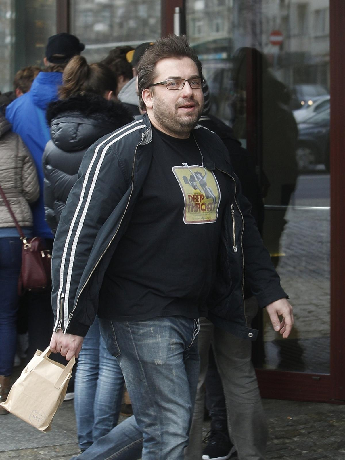 Bartek Węglarczyk przed studiem Dzień Dobry TVN
