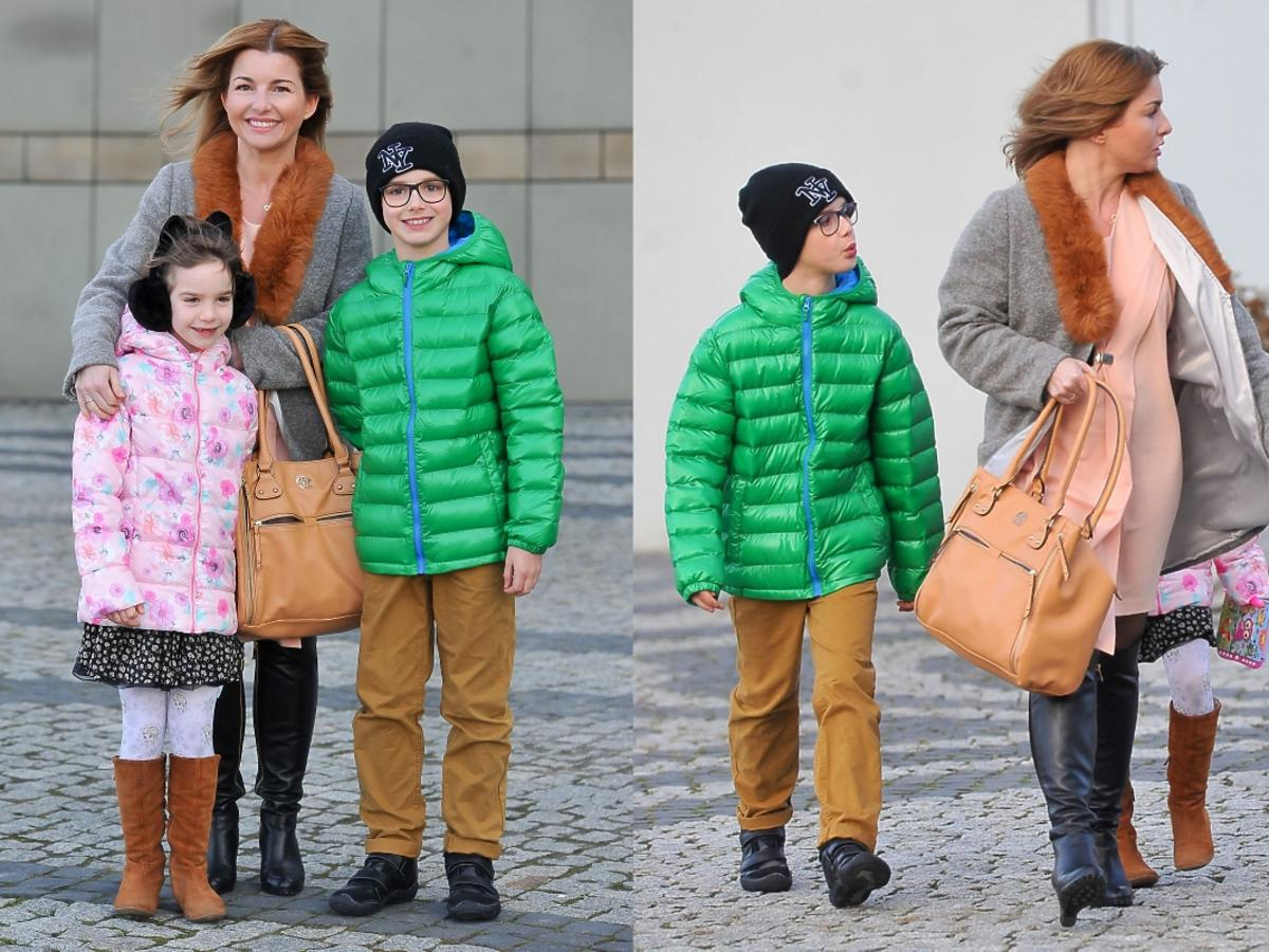 Beata Chmielowska-Olech z dziećmi