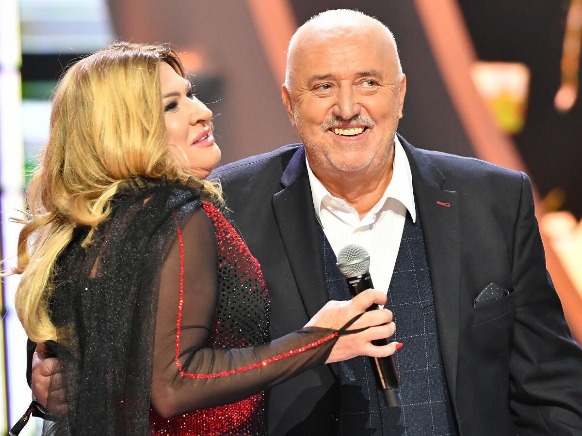 Beata Kozidrak z byłym mężem na scenie w Sopocie