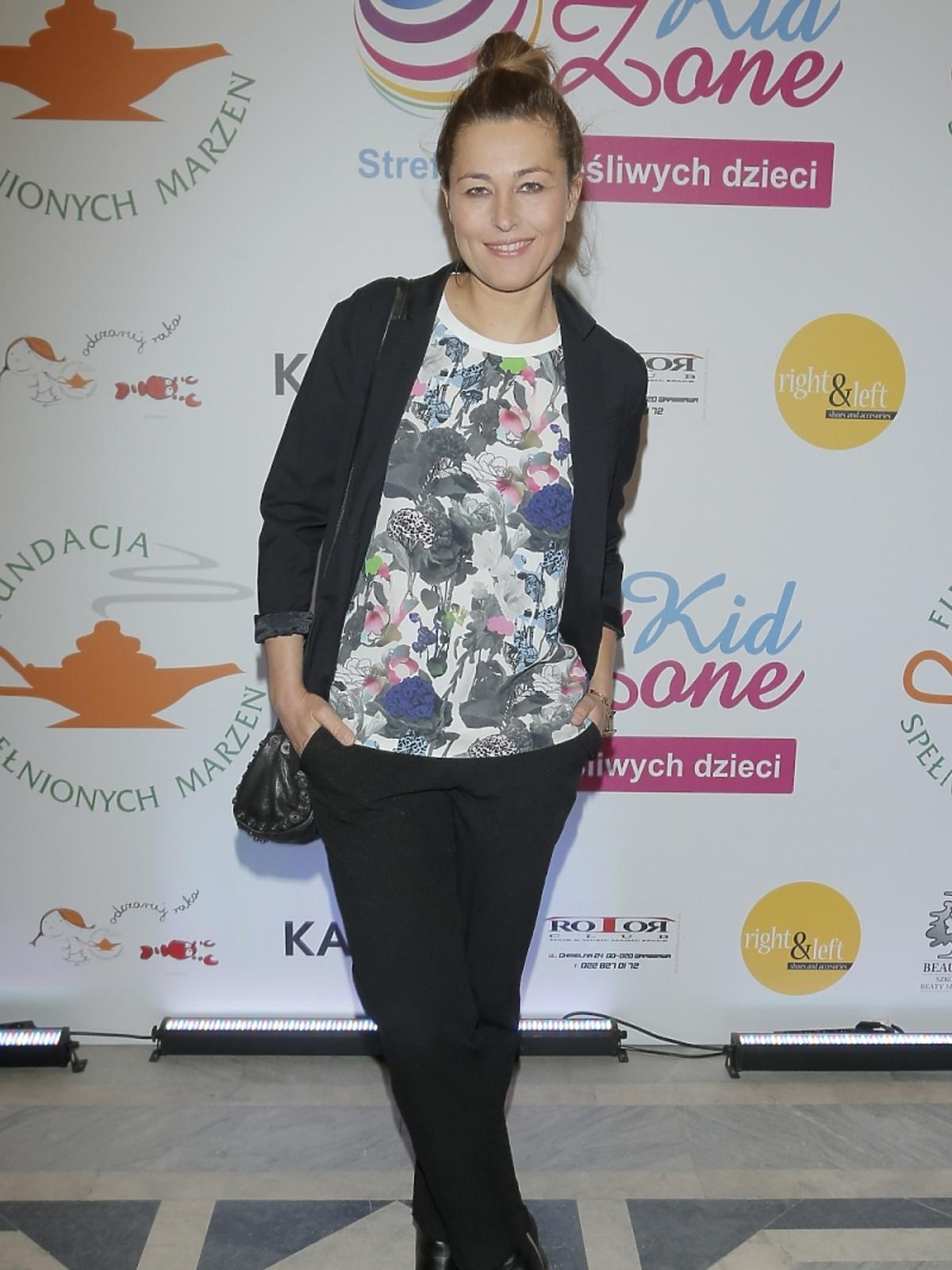 Beata Sadowska na pokazie mody
