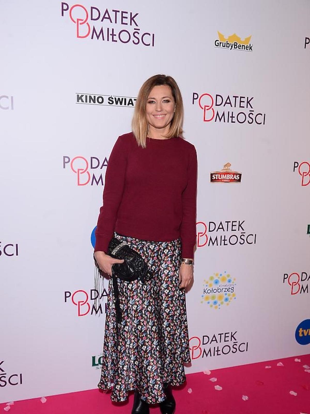 Beata Sadowska na premierze