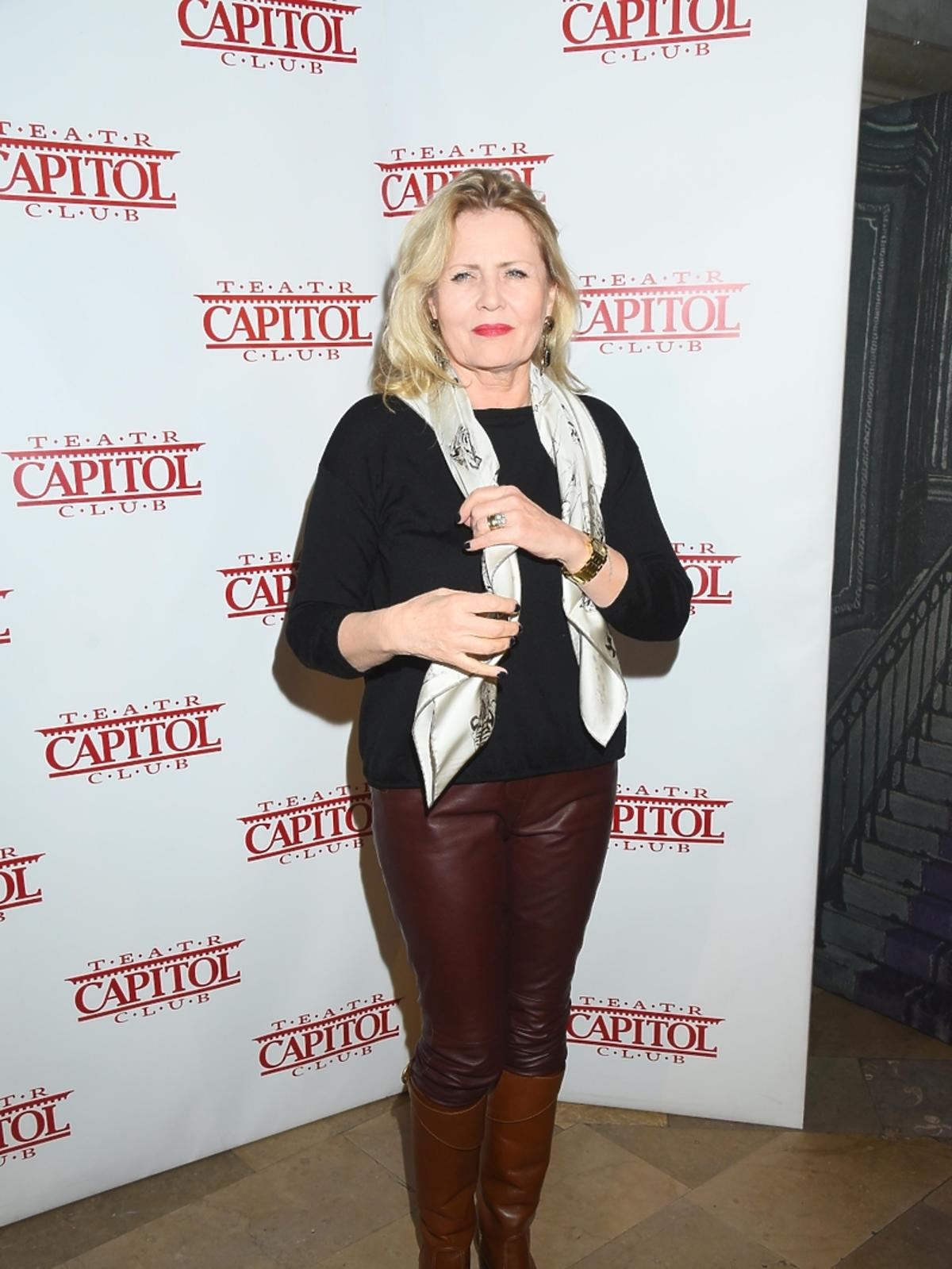 Beata Sadowska na premierze w Teatrze Capitol