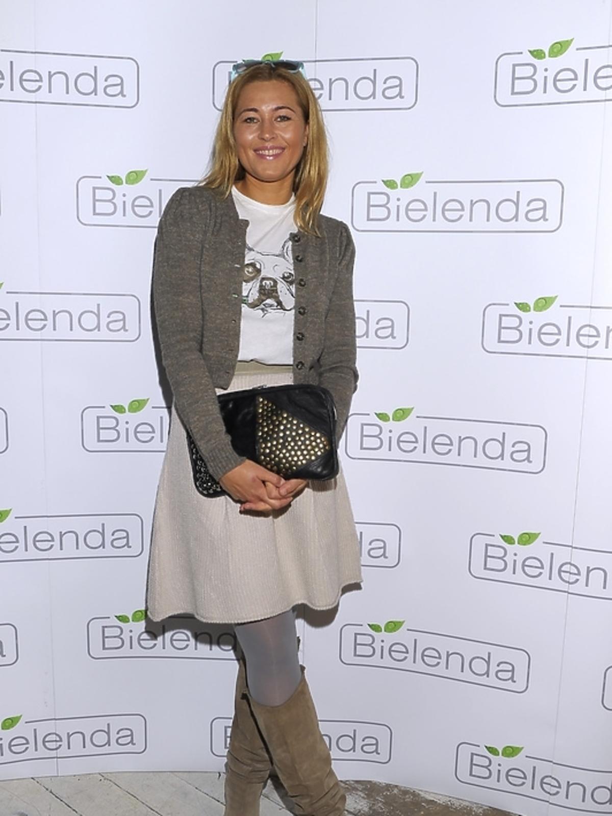 Beata Sadowska na prezentacji kosmetyków marki Bielenda