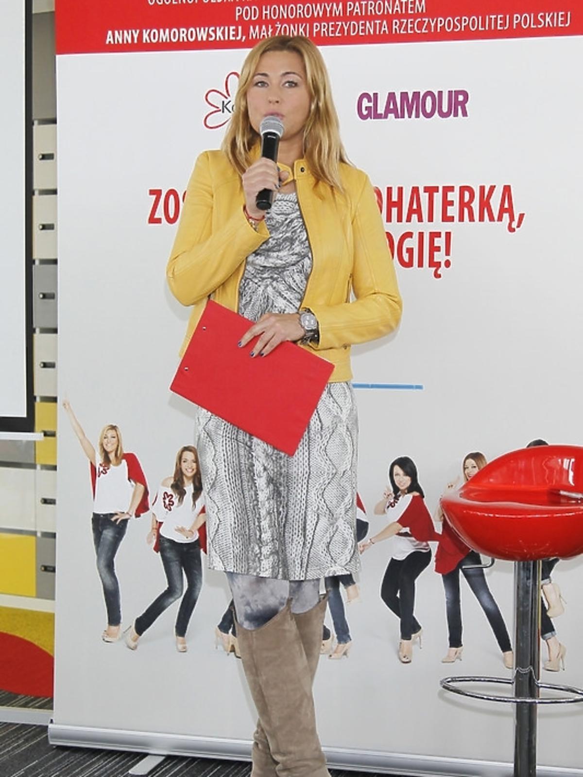 Beata Sadowska podczas spotkania Honeymoon dla Kwiatu Kobiecości