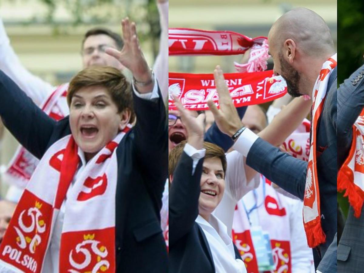 Beata Szydło i Marcin Gortat kibicują Polakom w meczu Polska-Ukraina