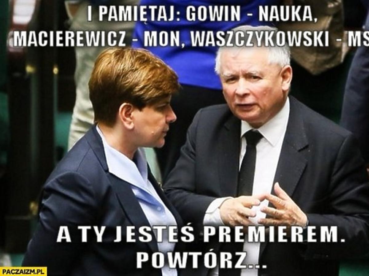 Beata Szydło, Jarosław Kaczyński w Sejmie