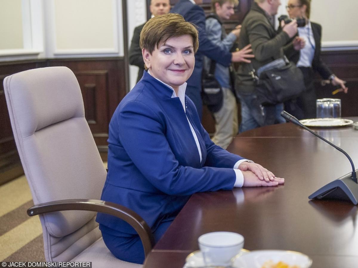 Beata Szydło na fotelu premiera