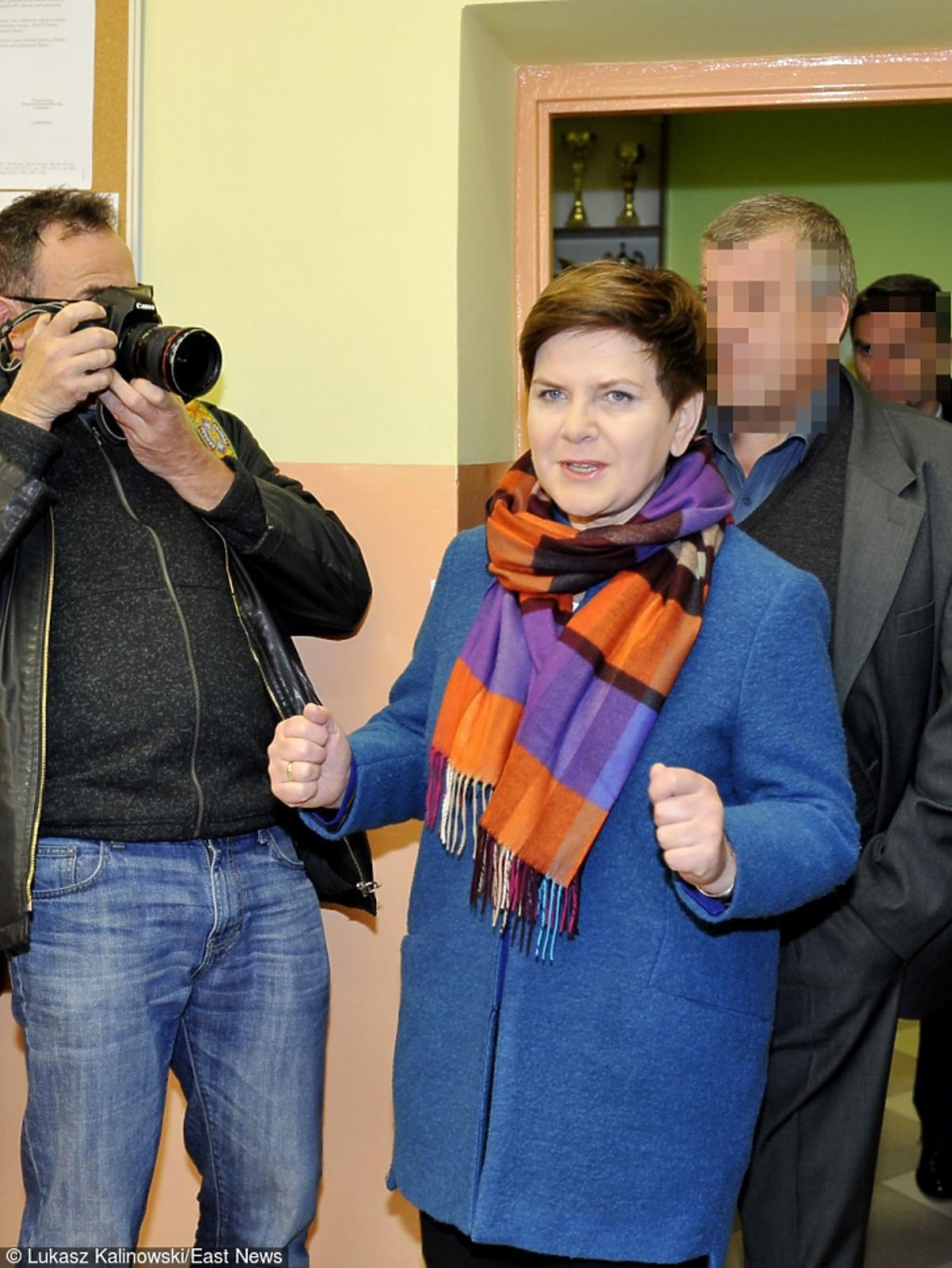 Beata Szydło trzyma kciuki