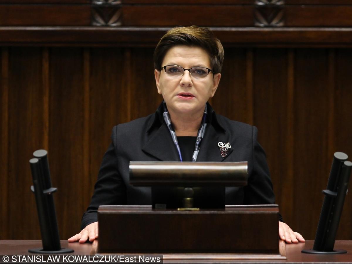 Beata Szydło w Sejmie podczas expose