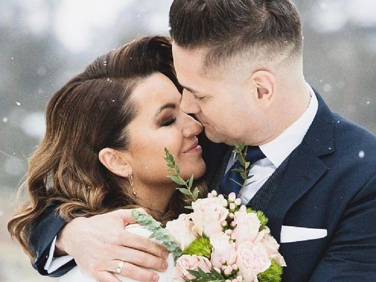 Beata Tadla z mężem- sesja ślubna