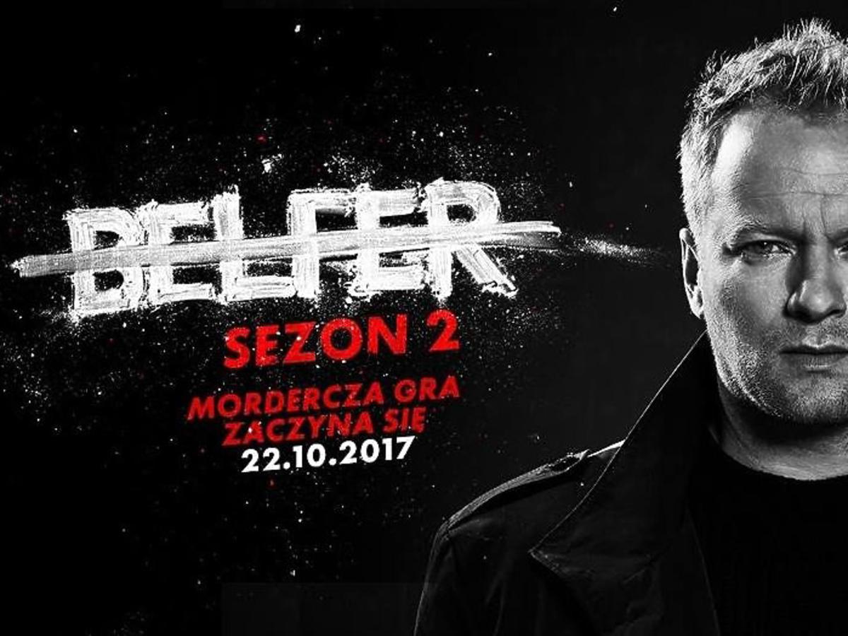 Belfer 2 - plakat serialu z Maciejem Stuhrem