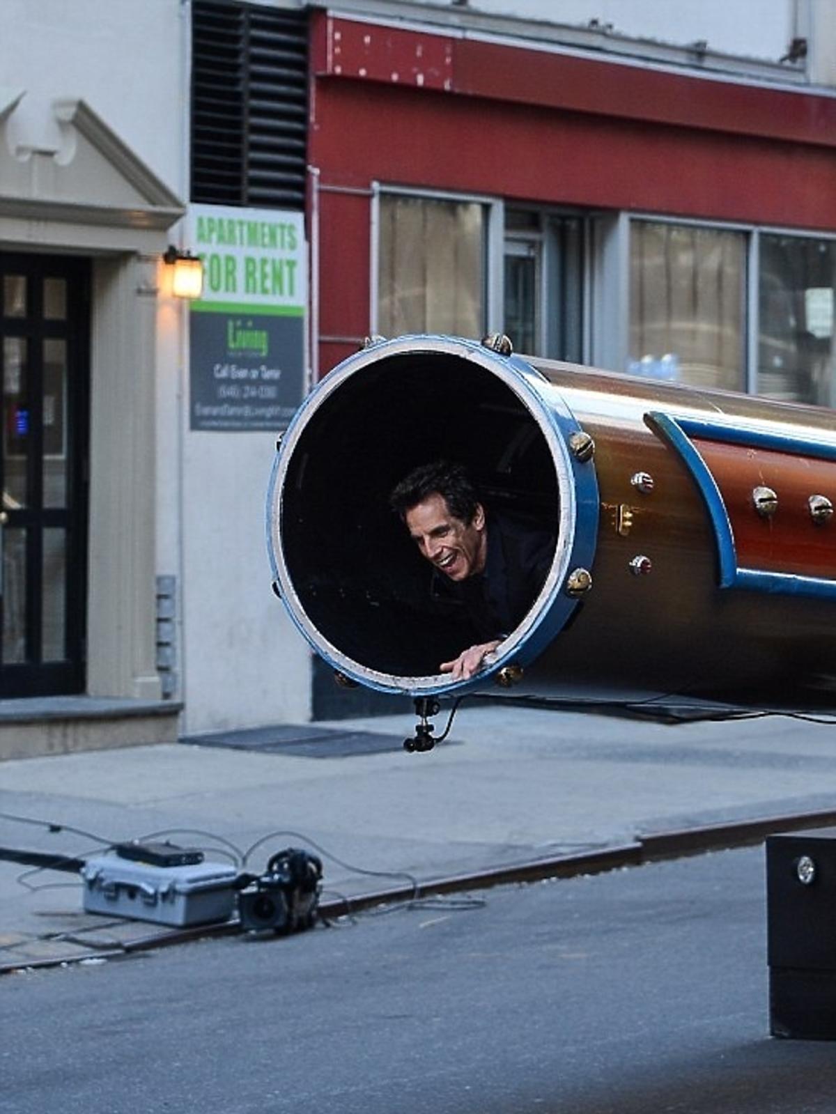 Ben Stiller został wystrzelony z armaty