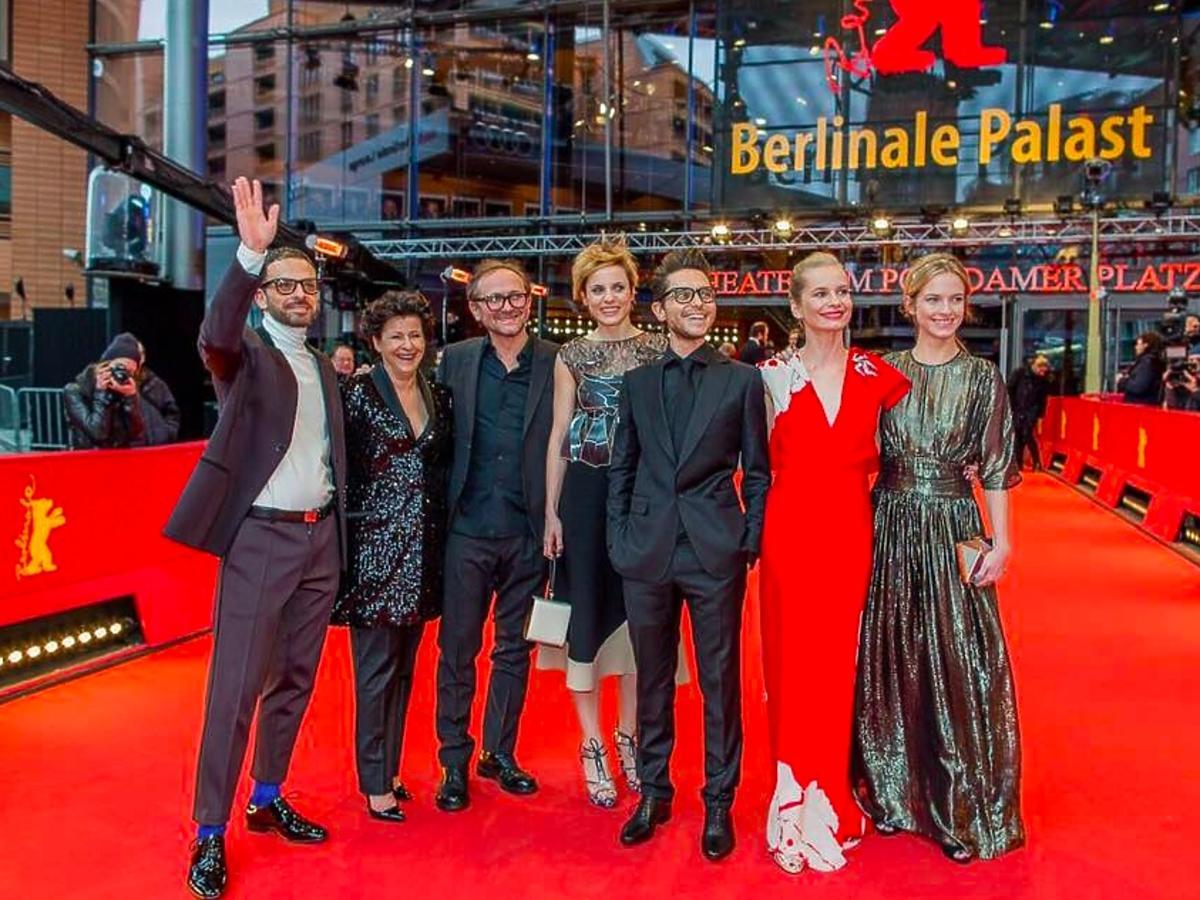 Berlinale Magdalena Cielecka, Tomasz Wazilewski, Marta Nieradkiewicz, nagroda srebrne lwy dla filmu Zjednoczone Stany Miłości