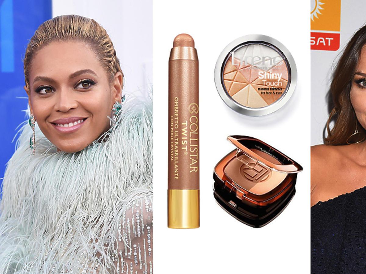 Beyonce i Paulina Sykut w złotym, rozświetlającym makijażu