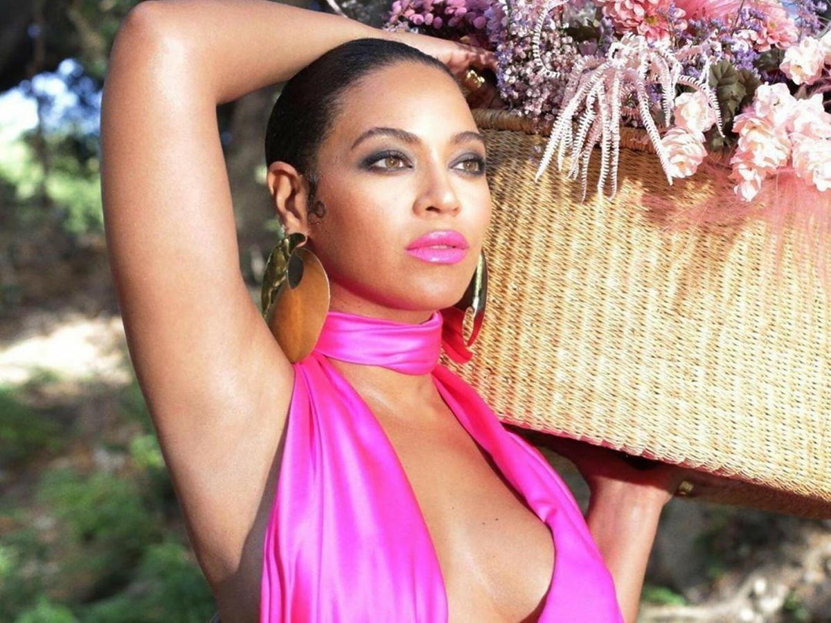 Beyonce w różowej sukni