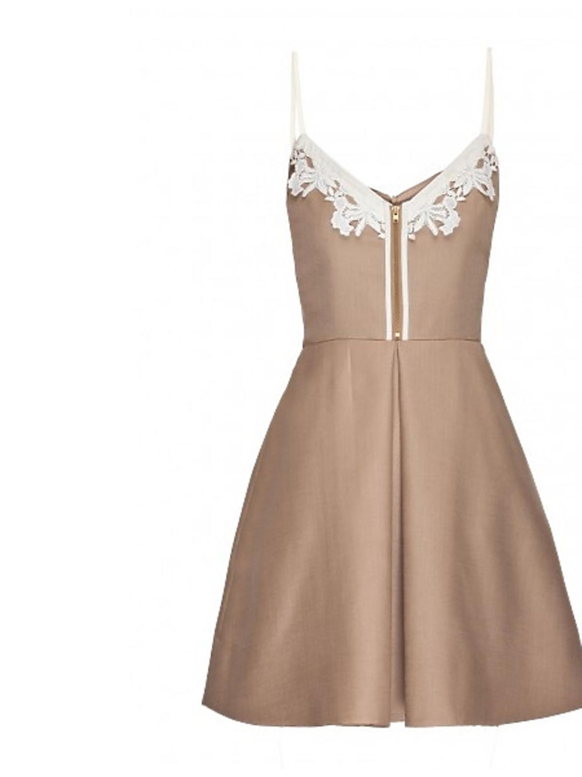 Beżowa sukienka Langner, cena