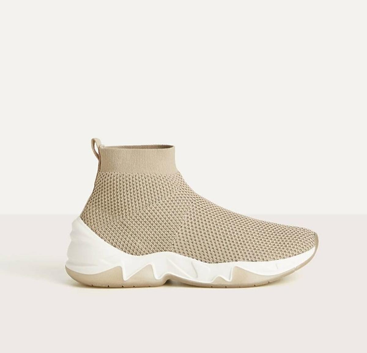 beżowe sneakersy H&M
