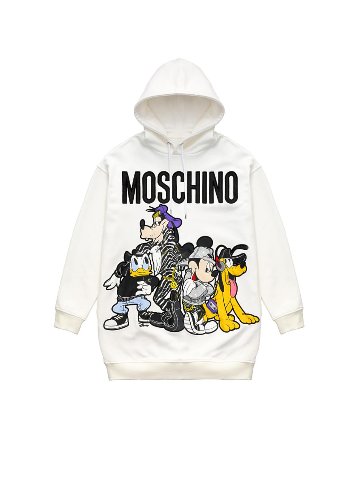 biała bluza z nadrukiem Moschino x H&M