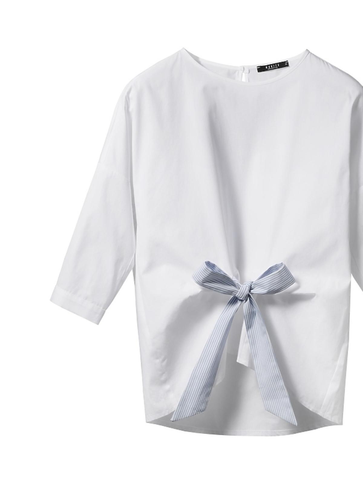 Biała bluzka z kokardą Mohito, 99,99 zł