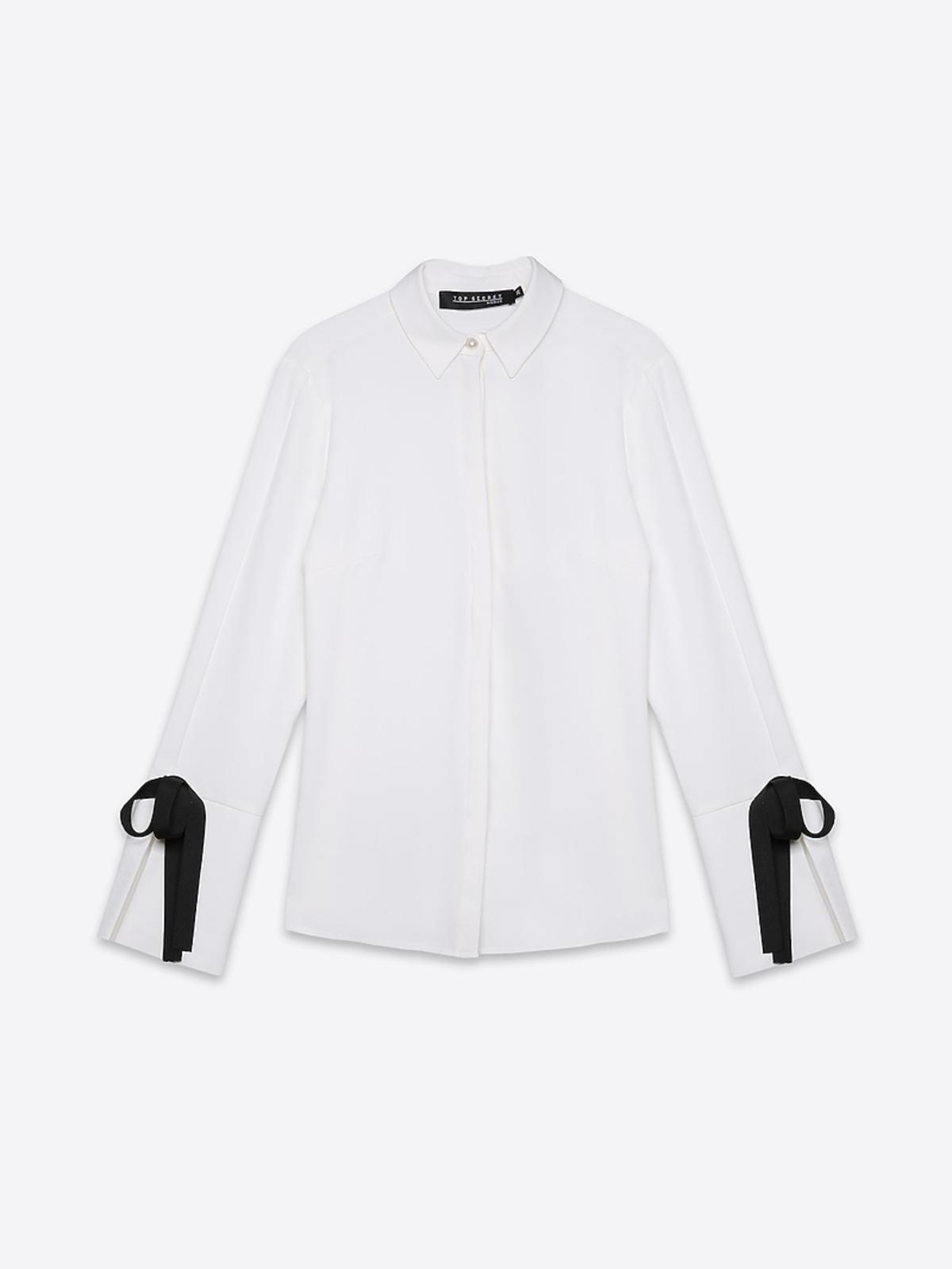 Biała koszula z kokardkami Top Secret, 139,99 zł