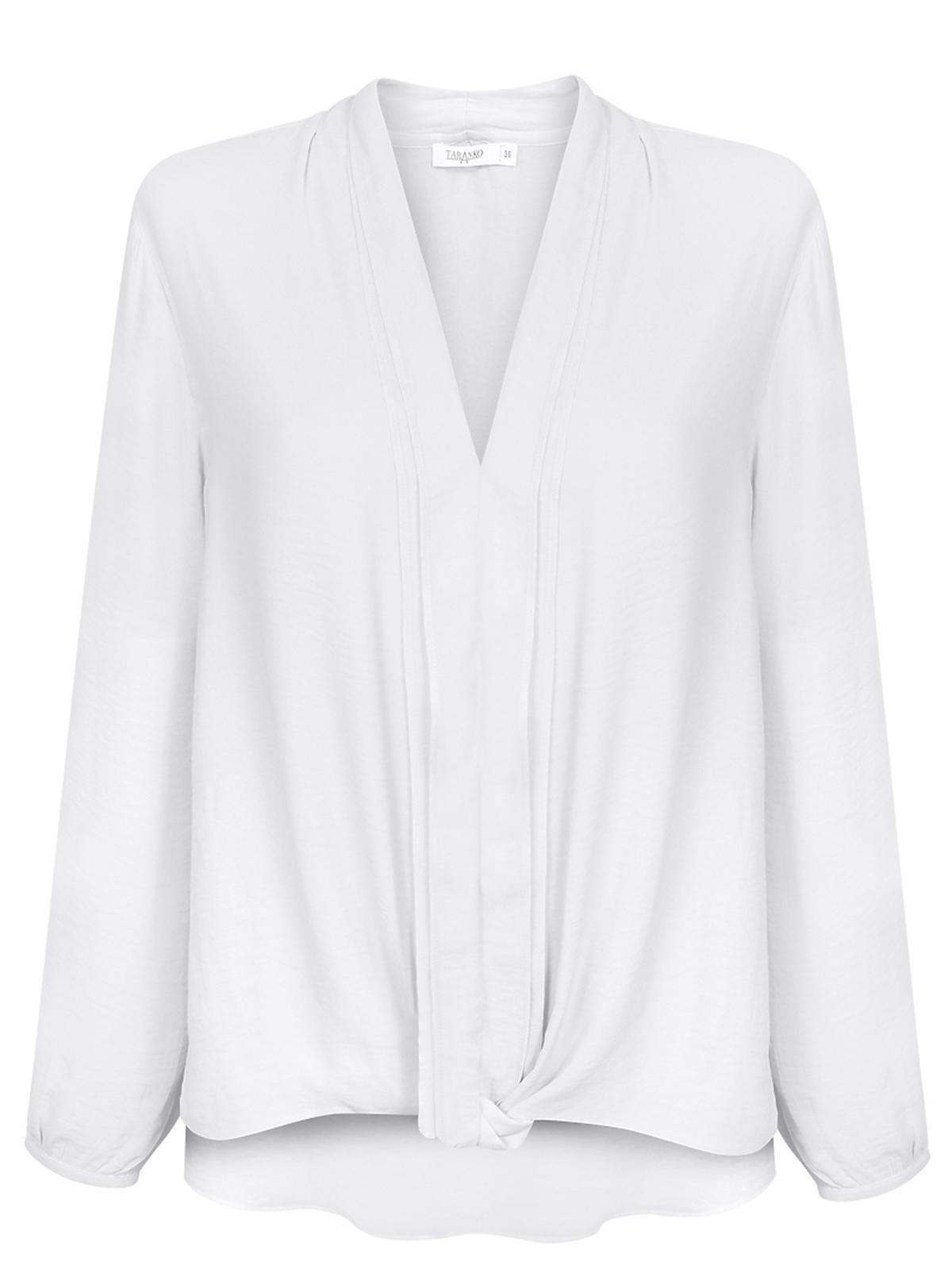 Biała koszula z wiązaniem Taranko, 219 zł