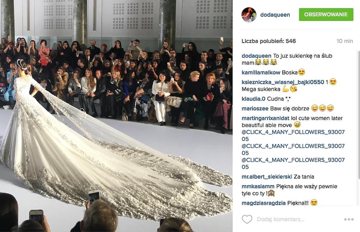 biała ślubna sukienka