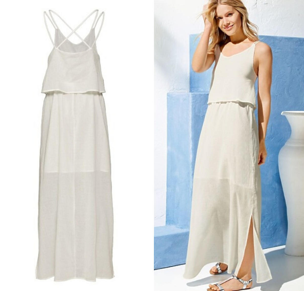 Biała sukienka maxi Lidl