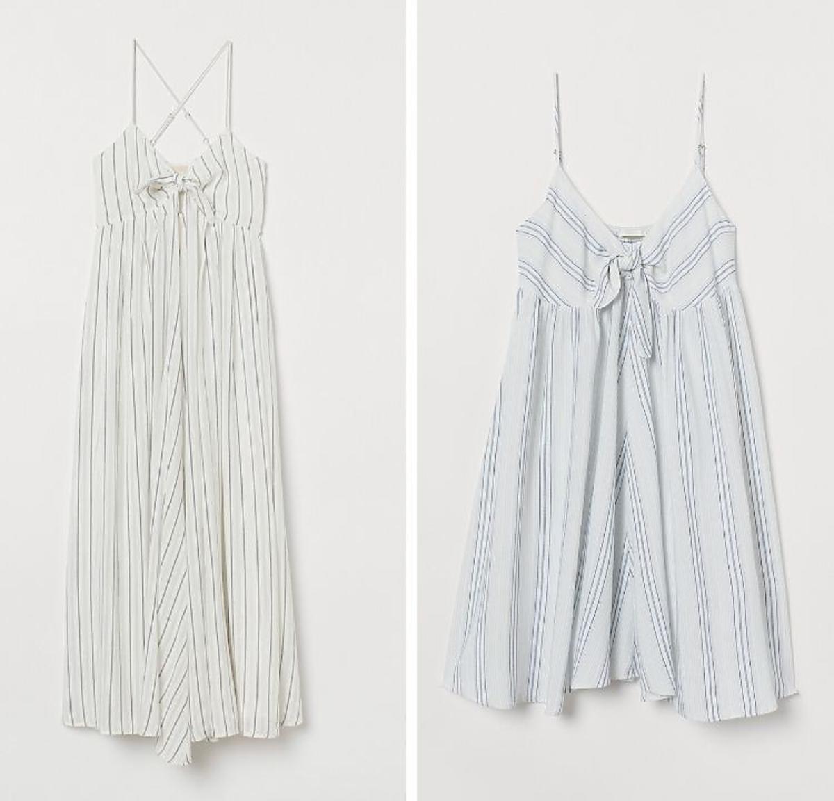Biała sukienka w paski H&M