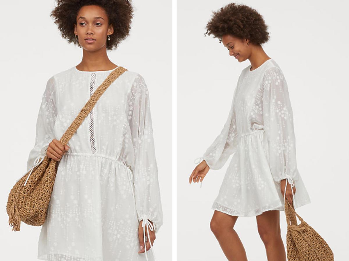 biała sukienka z H&M za 200 zł