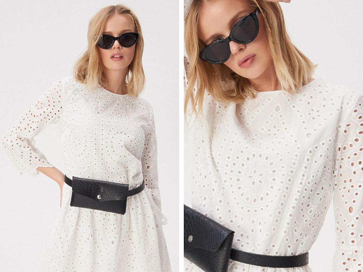 biała sukienka z Sinsay